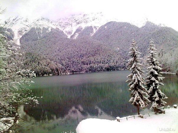 Абхазия, Озеро Рица, январь 2014г. Мир глазами ухтинцев Ухта