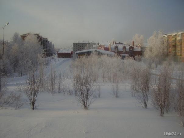 Вид из моего окна зимой... Улицы города Ухта