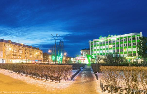 Вечер на проспекте Ленина.  Ухта