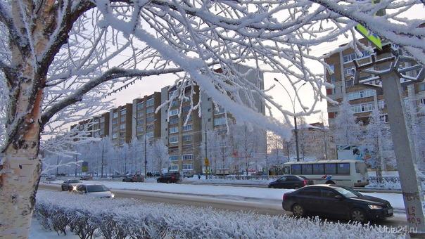 Морозный день, Улицы города Ухта