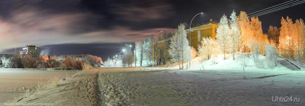 Ухта морозная, парковая панорама.  Ухта
