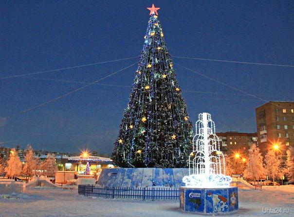 Скоро, скоро Новый год! Улицы города Ухта