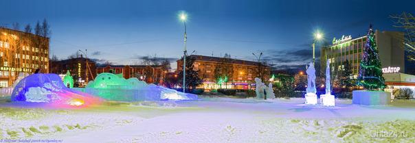 Панорама Ледового городка.  Ухта