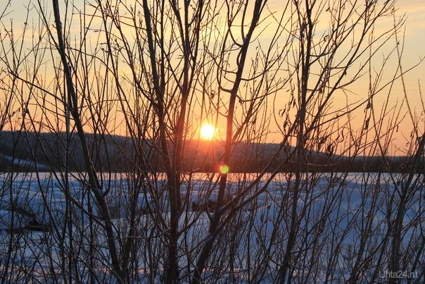 ранее утро зимой Природа Ухты и Коми Ухта