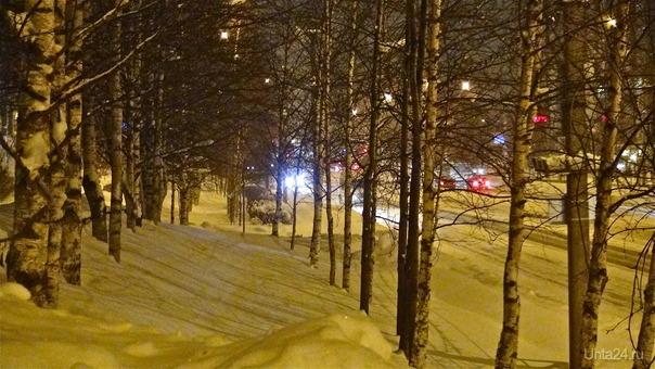 """Вечерняя Ухта. Какая же все-таки тонкая грань между """"ура, снег пошел!"""" и """"пипец, снега навалило!"""". Природа Ухты и Коми Ухта"""