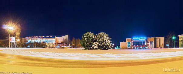Панорама: Площадь Мира.  Ухта