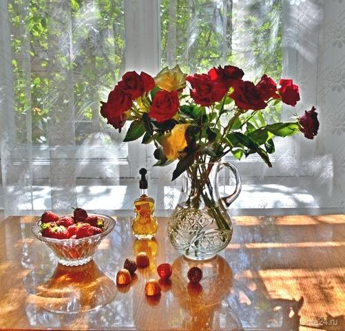 Летний натюрморт с розами  Ухта