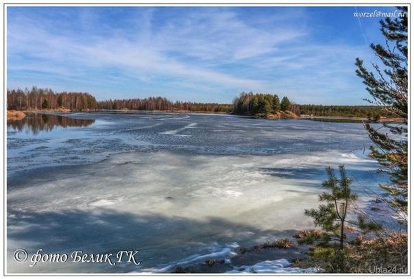 весной у озера Природа Ухты и Коми Ухта