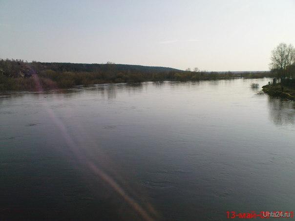 Половодье.Фото с моста Природа Ухты и Коми Ухта