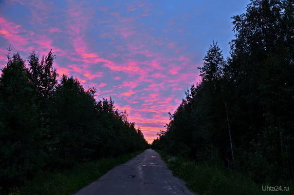 Закаты над дачами.. Природа Ухты и Коми Ухта
