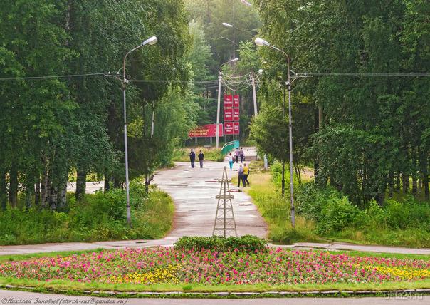 Парк сегодня после тёплого летнего дождика.  Ухта