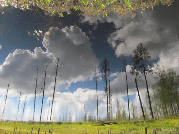 опять на небе средь облаков чё то не то Природа Ухты и Коми Ухта