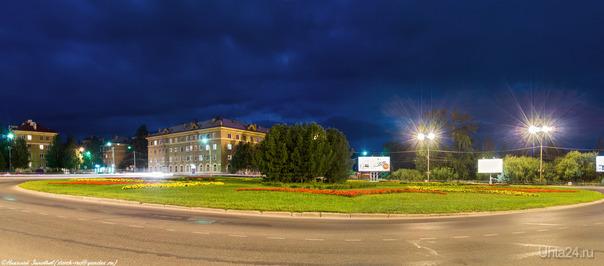 Вечер на площади Мира...  Ухта