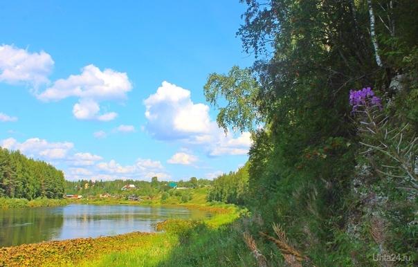 На берегу Ухты в августе Природа Ухты и Коми Ухта