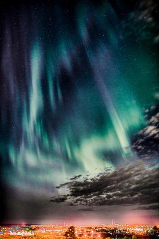 Северное сияние над Ухтой 23.08. Природа Ухты и Коми Ухта