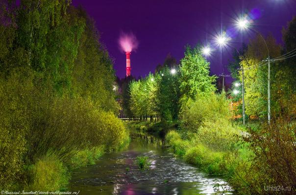 Вечер в парке... Улицы города Ухта