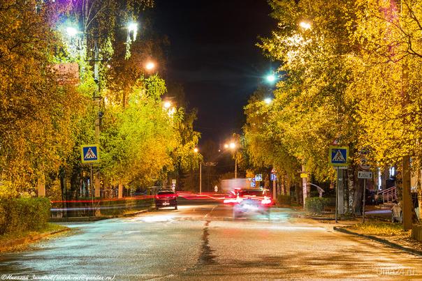 """""""Золотой"""" вечер в осеннем городе... Улицы города Ухта"""