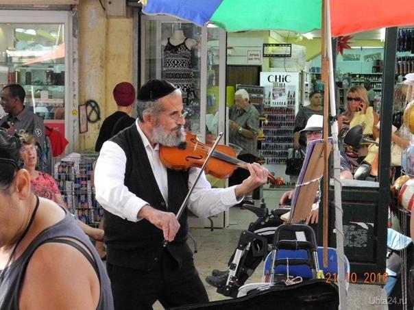 Израиль,музыкант в Беер Шеве Мир глазами ухтинцев Ухта