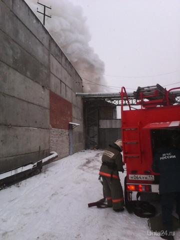 пожар на Западной  Ухта
