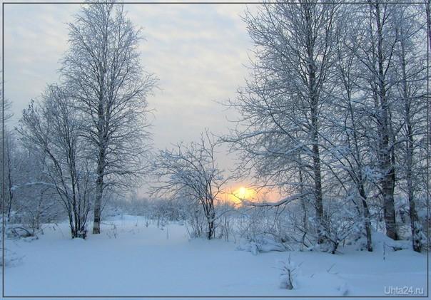 Зимний закат Природа Ухты и Коми Ухта