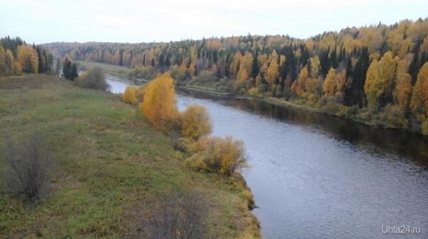 Река Ухта. глубокая осень Природа Ухты и Коми Ухта