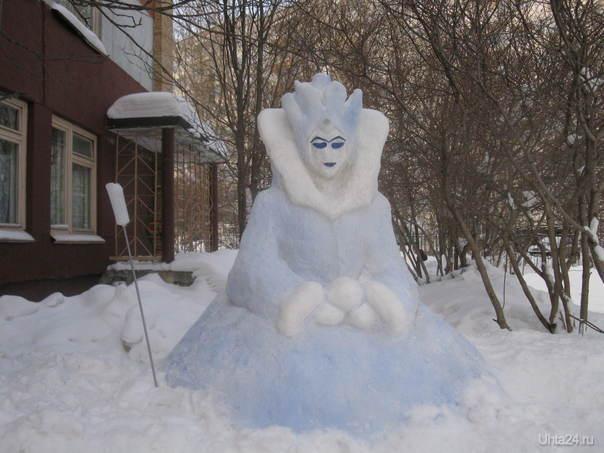 Лучшие снежные постройки в городе, выполненные родителями детей детского сада зимой 2010г. Разное Ухта
