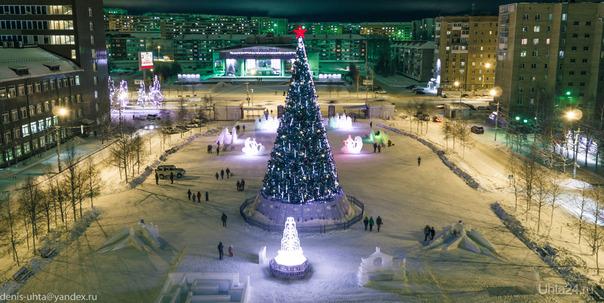 Комсомольская площадь.  Ухта