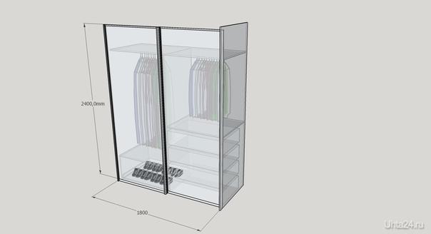 Если у вас есть место куда нужно поставить встроенный шкаф-купе скажем шириной 1800мм и высотой 2400мм глубиной полезной части 600мм, то вот примерная стоимость: двери 9000р, корпус 11000р  Ухта