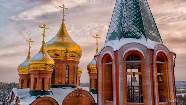 Церковь. Улицы города Ухта