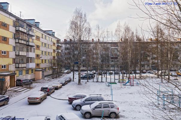 6 часов утра (-5 °C), зима за окном, вот это май так май, хоть ушанку надевай :)  Ухта