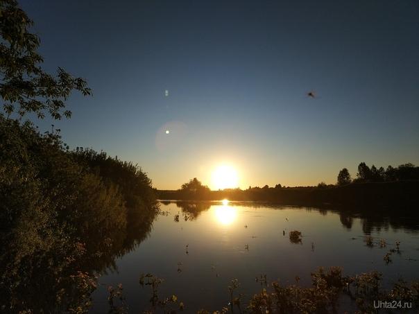 Закат на реке Природа Ухты и Коми Ухта