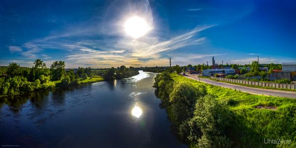 река Ухта и Заводская улица  Ухта
