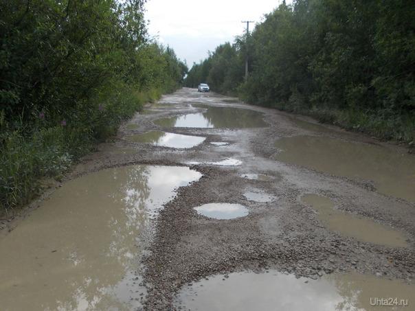 Дорога на дачах после дождя. Разное Ухта