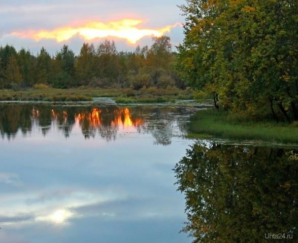 Костры в воде Природа Ухты и Коми Ухта