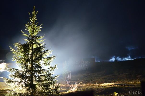 ночью в покче Природа Ухты и Коми Ухта