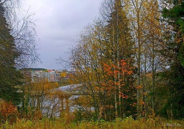 Вид на Шудаяг с правого берега Ухты Природа Ухты и Коми Ухта