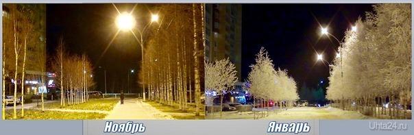 Идет зима. Стоит природа в ожидании, Когда придёт опять зима. Закружит вьюгой и метелью, Завьюжит снегом все дома.  И станет белым мир от снега, Придут морозы декабря. Грустит природа, ожидает, Когда наступят холода. /стихи из инета/ Улицы города Ухта