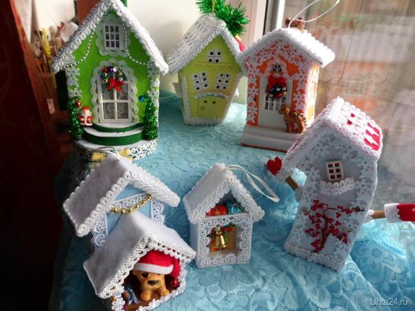 """Новогодние домики.Светятся, """"поют"""", """"гавкают"""" и звенят! Творчество, хобби Ухта"""
