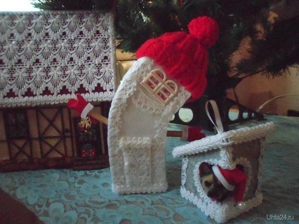 Домики из картона.Последние подарки в этом году. Творчество, хобби Ухта