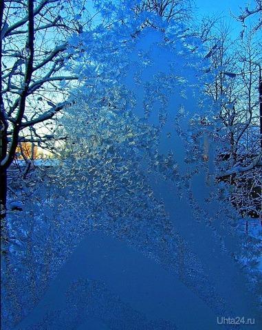 Рисунок на окне Разное Ухта