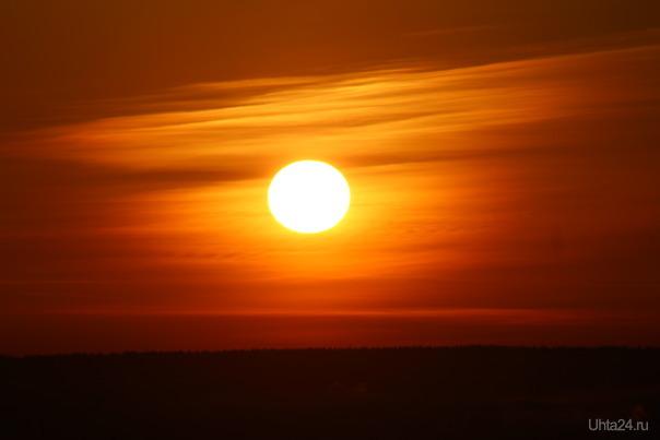 Закат солнца 01.02.18 Природа Ухты и Коми Ухта