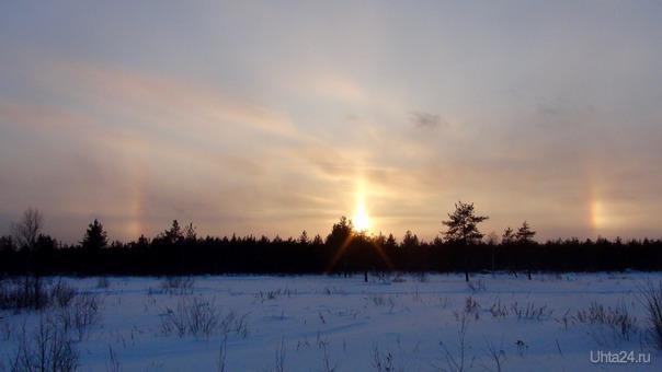 Гало вокруг солнца. Природа Ухты и Коми Ухта