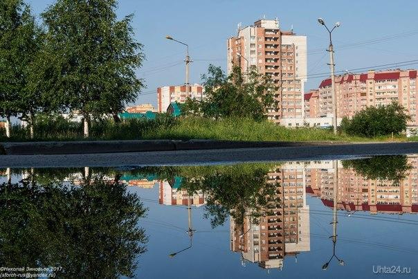 Из летних отражений... Улицы города Ухта