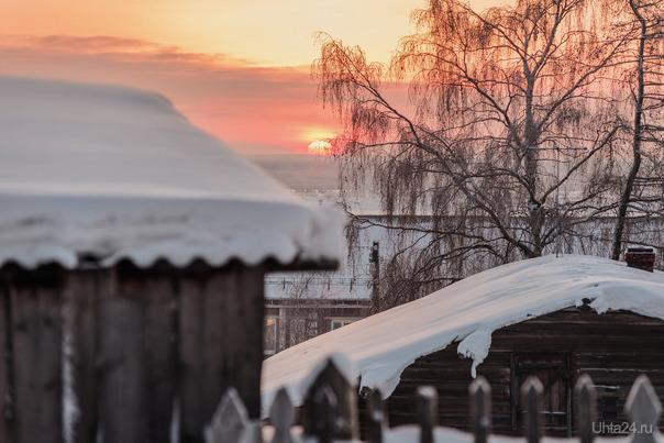 Солнышко уходит. село Усть-Цильма Природа Ухты и Коми Ухта
