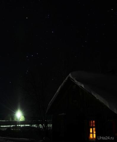 Созвездие Ориона и лёд и пламень всегда Природа Ухты и Коми Ухта