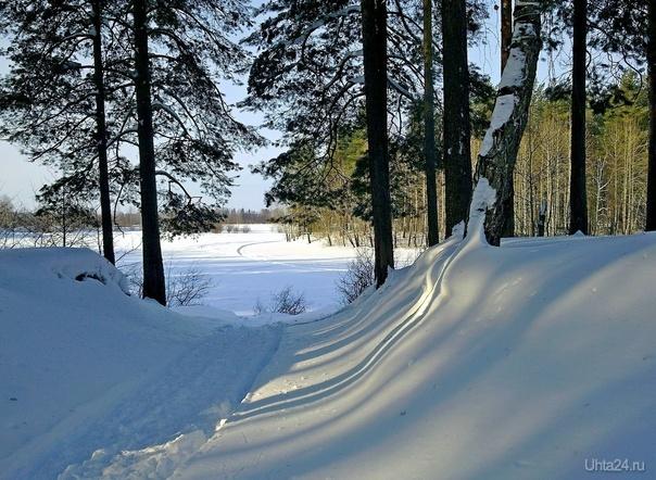 На зимнем озере. Снято под Сыктывкаром. Природа Ухты и Коми Ухта