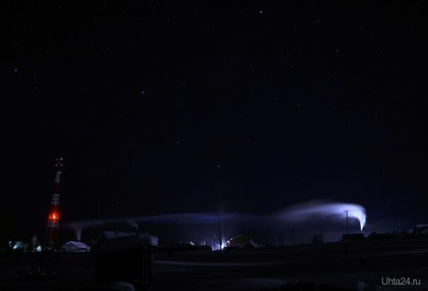 в коми ночной лёгкий морозец, без ветра -35: легко)) Природа Ухты и Коми Ухта