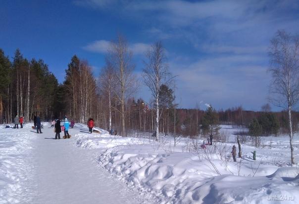 В конце марта за городом Природа Ухты и Коми Ухта