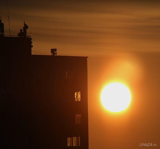 Утреннее солнышко Природа Ухты и Коми Ухта