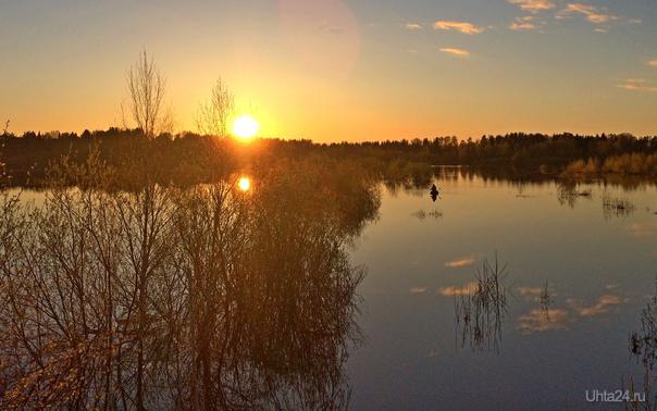 Майский вечер на озере Природа Ухты и Коми Ухта
